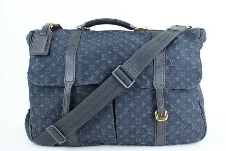 Louis Vuitton Mini Lin Sac A Langer Maman 829lt4 Navy Blue Diaper