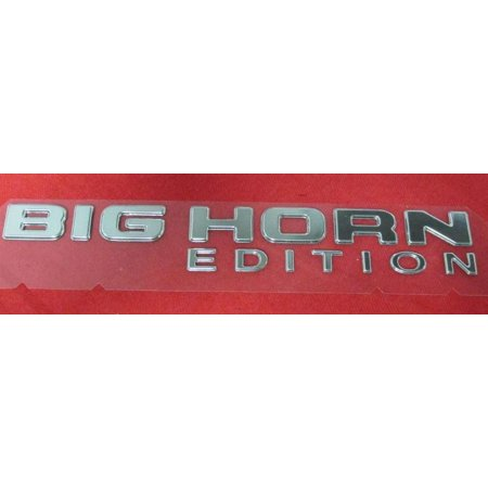 Factory New Mopar Part #55078108-AA Chrome Big Horn Tailgate Badge for Dodge Ram 2005-2008