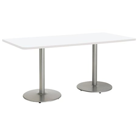 KFI Studios Mode 3' x 6' Counter Height Dining Table, River Cherry, Silver Base