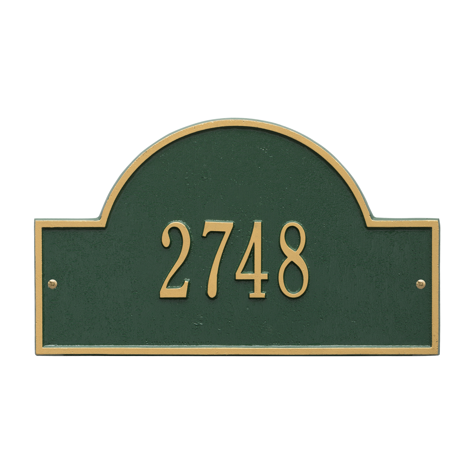 Personalized Whitehall Products Standard Wall One Line Arch Marker Address Plaque in Green... by Whitehall