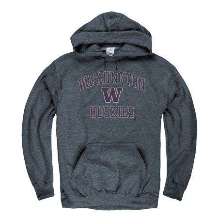 University Of Washington Huskies Men's Hoodie Sweatshirt-Charcoal