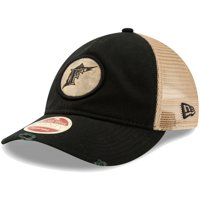 Florida Marlins New Era Cooperstown Collection Front Patched Trucker 9TWENTY Adjustable Hat - Black - OSFA