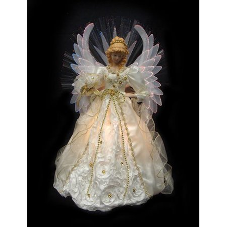 Northlight Seasonal Lighted Fiber Optic Angel Christmas Tree Topper - Northlight Seasonal Lighted Fiber Optic Angel Christmas Tree Topper