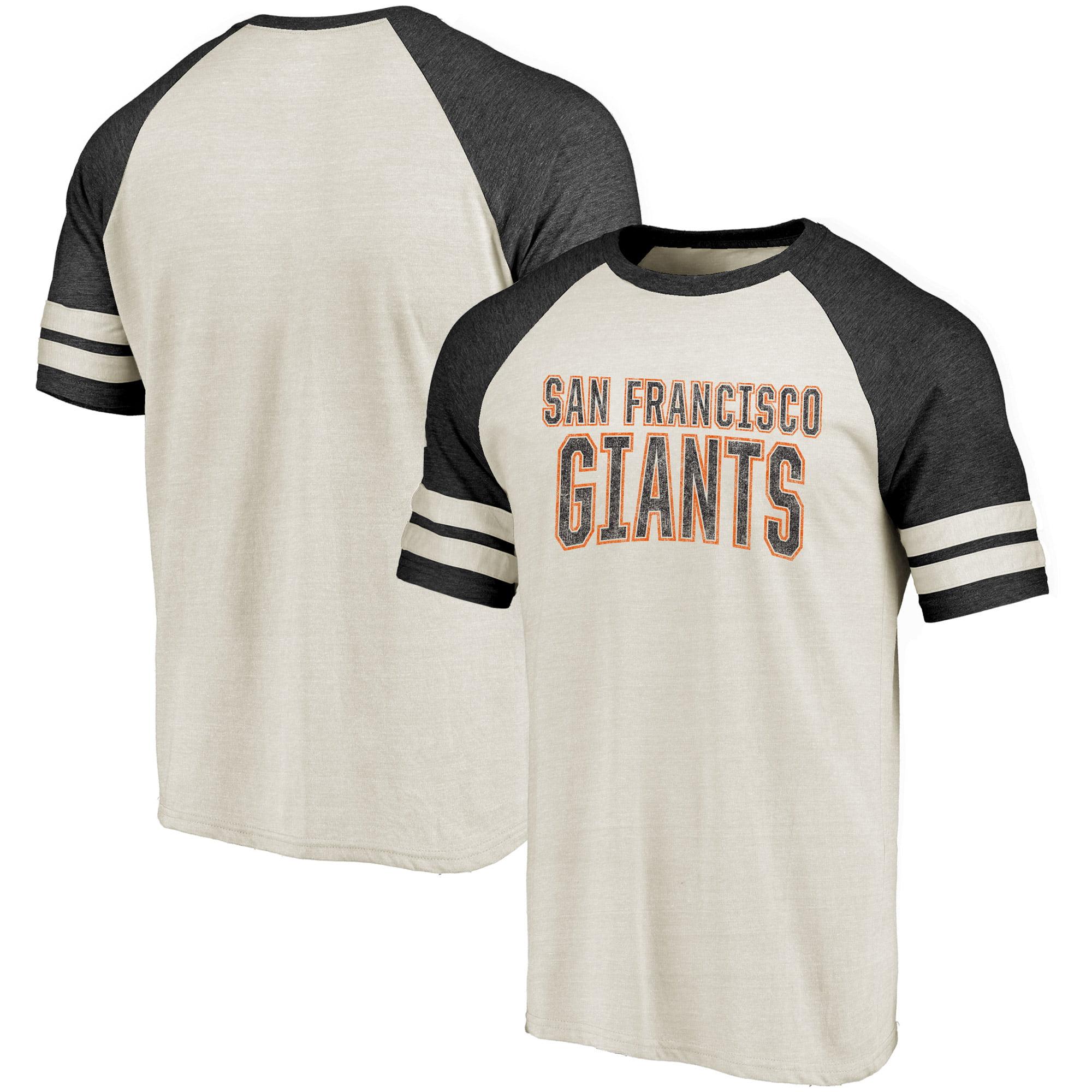 San Francisco Giants Fanatics Branded True Classics Colorblock Raglan T-Shirt - Cream/Black