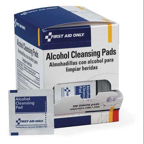 FIRST AID ONLY H305GR Alcohol Cleansing Pads,100/Box G2276237