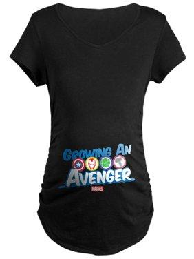 CafePress - Growing An Avenger Maternity Dark T Shirt - Maternity Dark T-Shirt