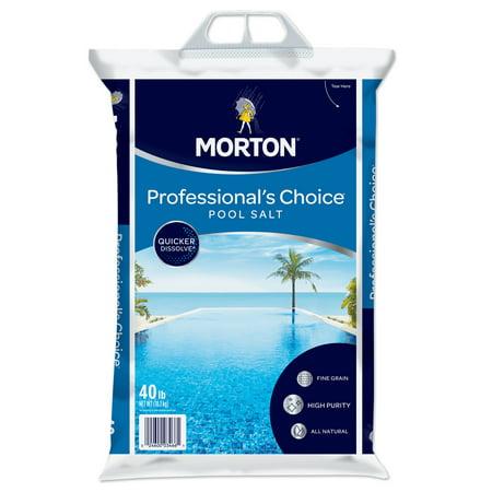 Morton® Professional's Choice® Pool Salt, 40 lb. Bag - Quicker Dissolve, All Natural ()
