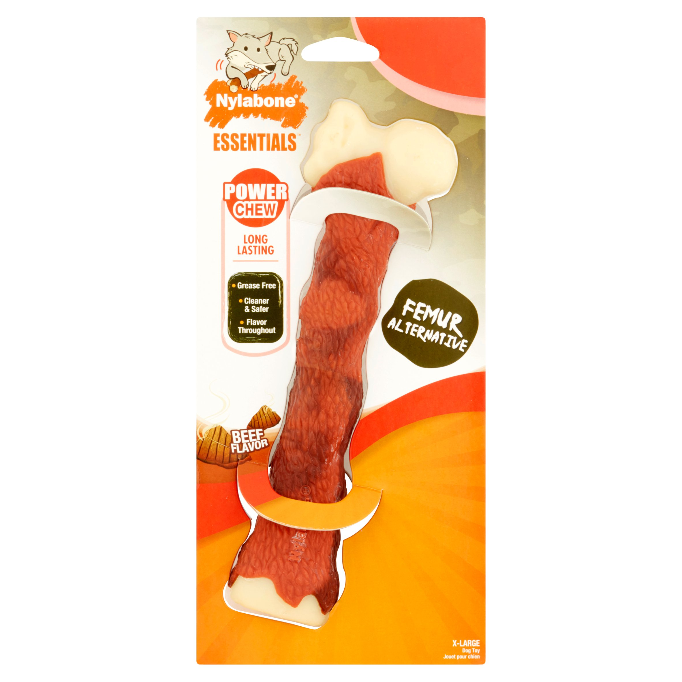 Nylabone Essentials Nature Inspired Power Dog Chew Femur, Extra Large