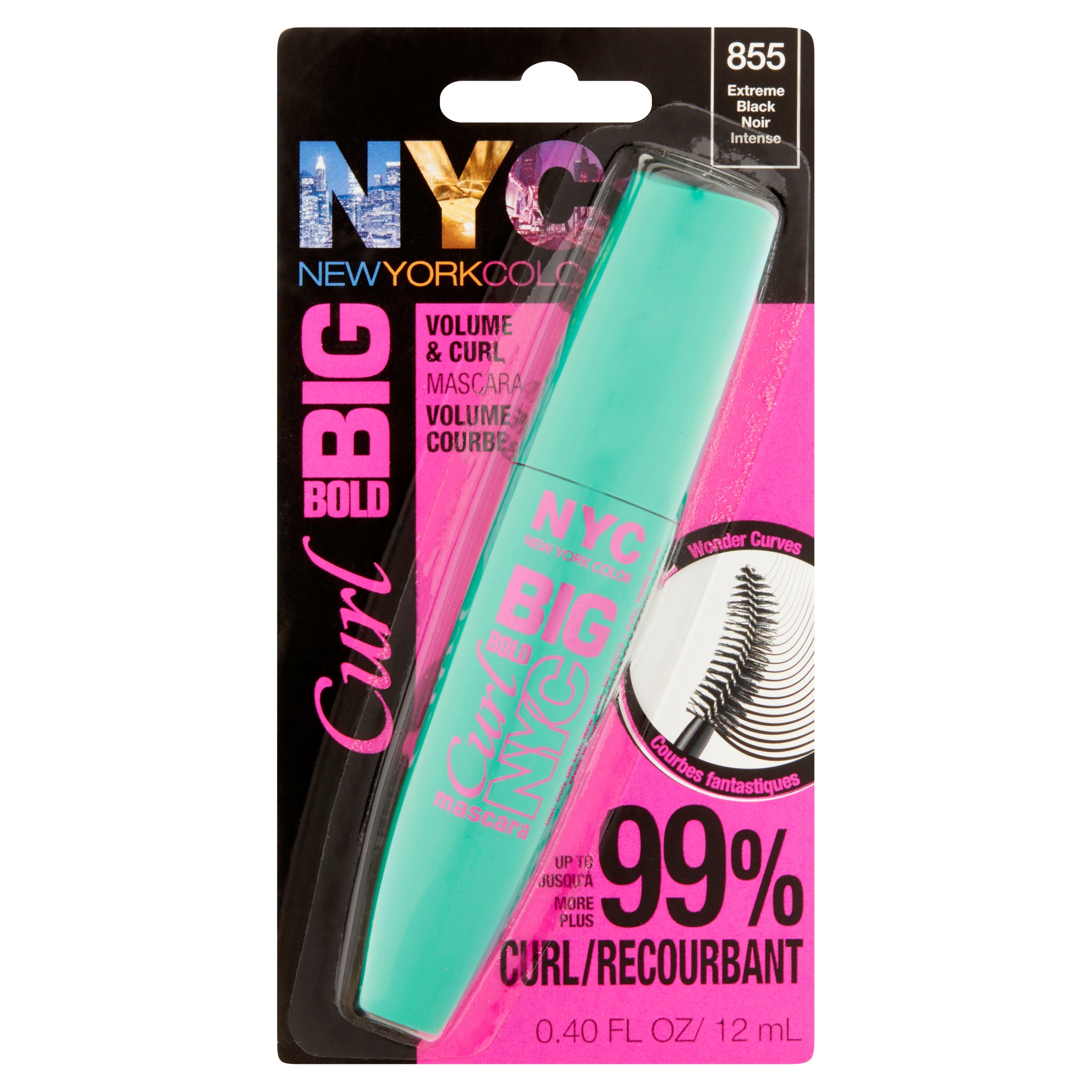 NYC New York Color Big Bold Curl Mascara, Extreme Black