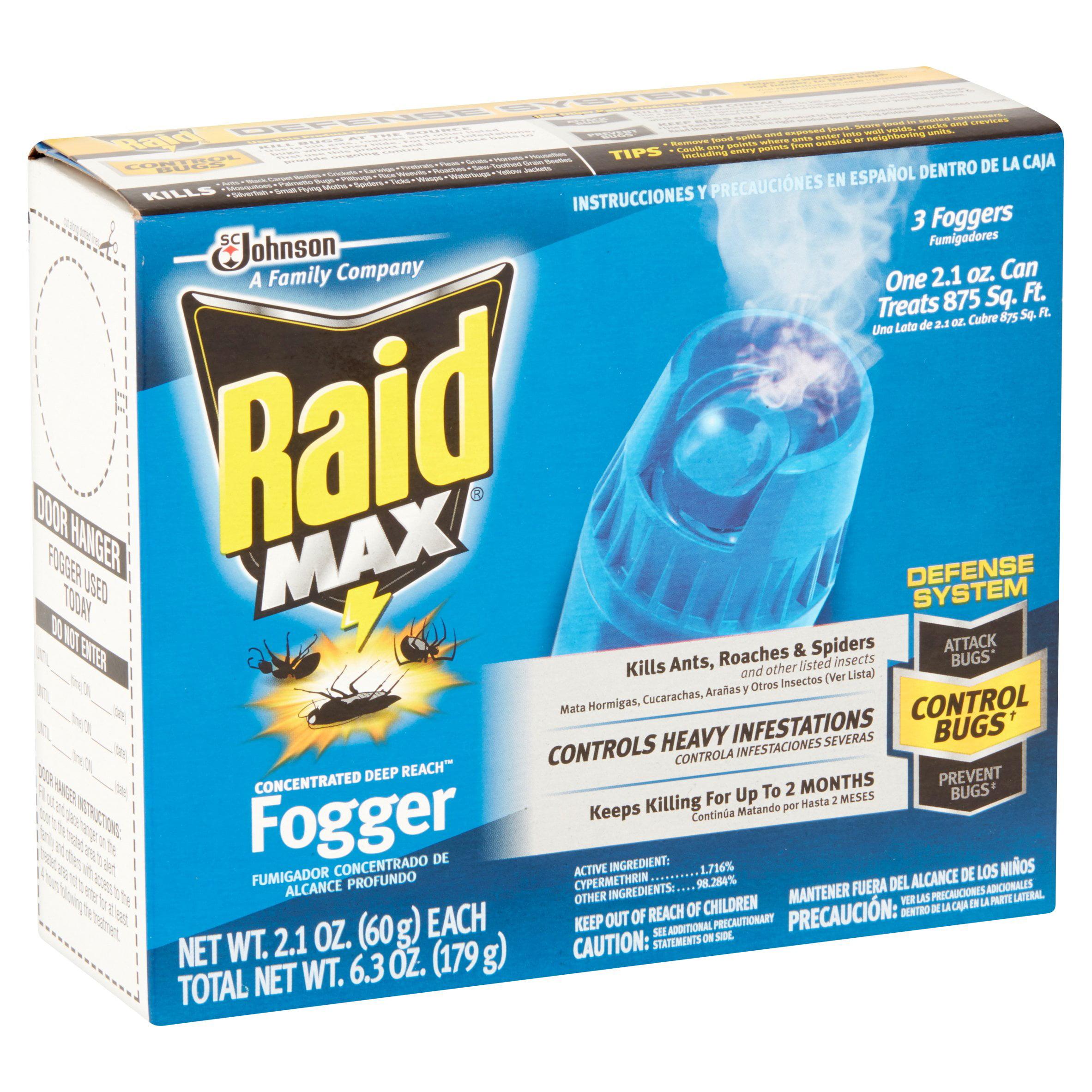 Raid Max Concentrated Deep Reach Fogger, 3ct - Walmart.com