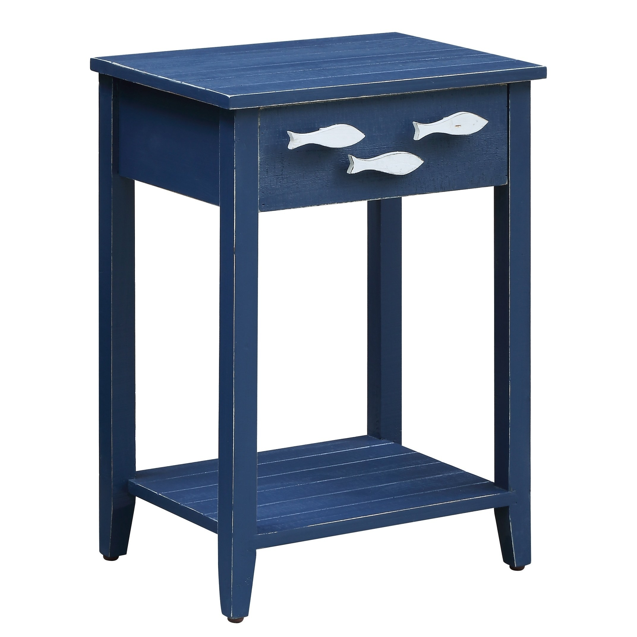 - Nautical Navy 1 Drawer Accent Table W/ Fish Hardware - Walmart.com