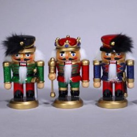 club pack of 12 wooden chubby soldier and king christmas nutcrackers 5 - Christmas Soldier