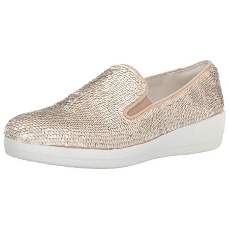 28801aa0 FitFlop - Women's Superskate with Sequins Slip-on Loafer - Walmart.com