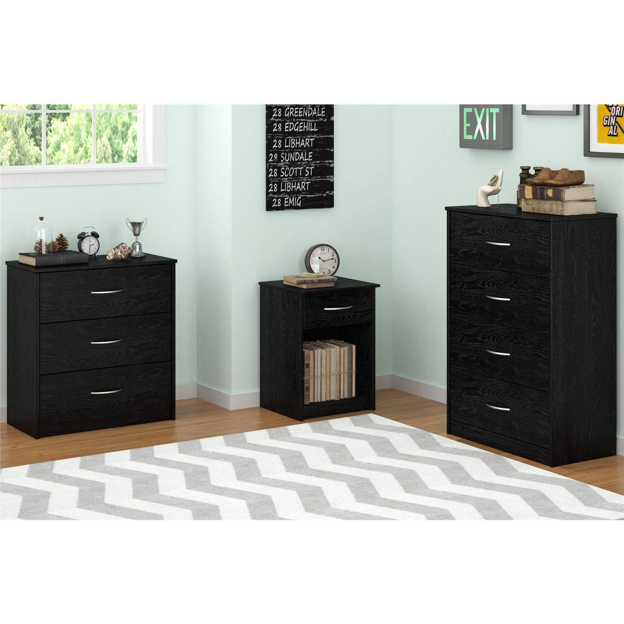 Mainstays 3 Drawer Dresser Multiple Colors