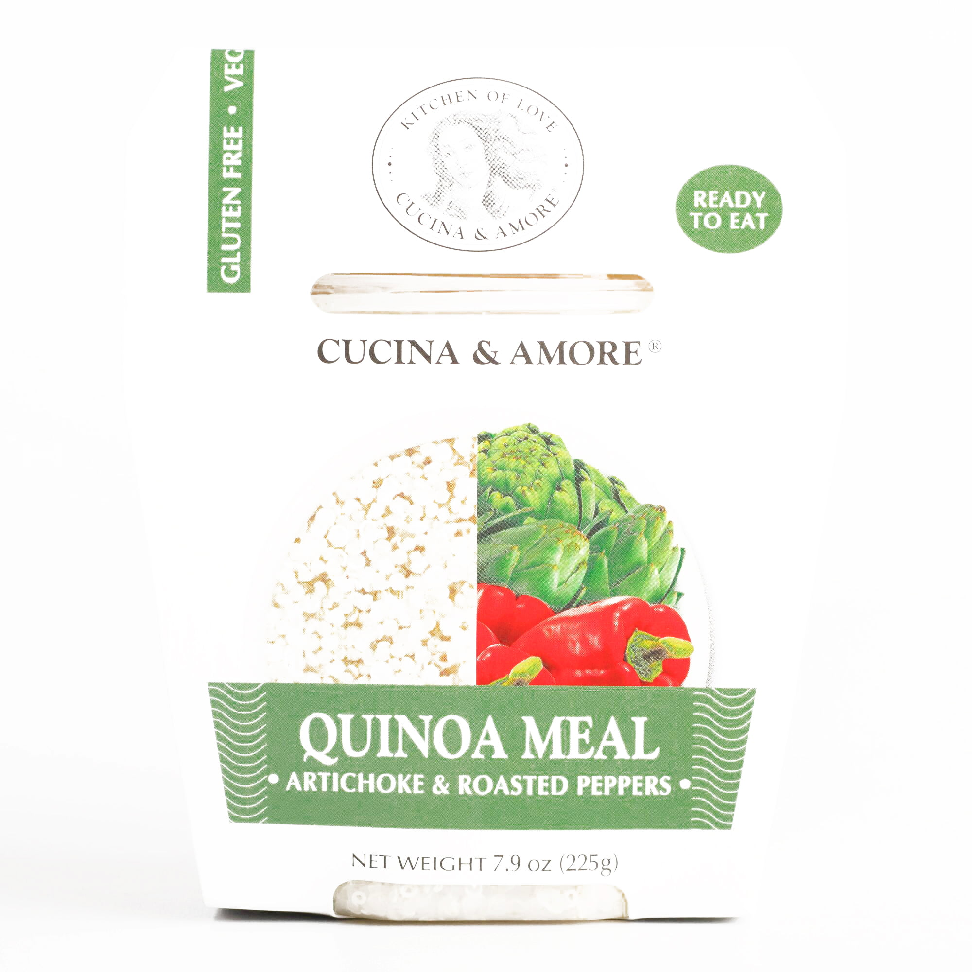 Cucina and Amore Artichoke and Roasted Peppers Quinoa Meal \t7.9 oz each (6 Items Per... by