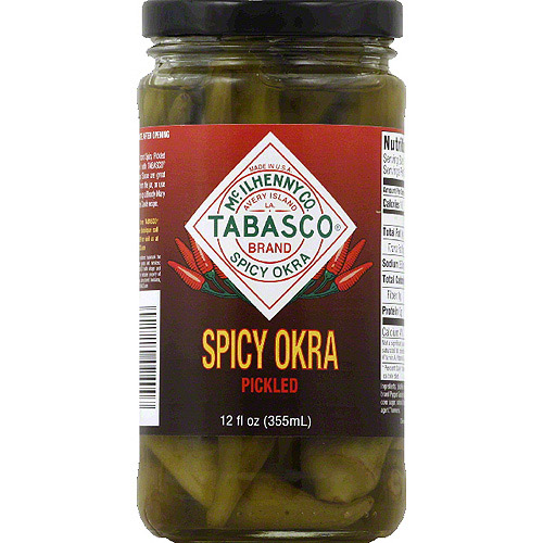 TABASCO Brand Pickled Spicy Okra, 12 fl oz, (Pack of 12)