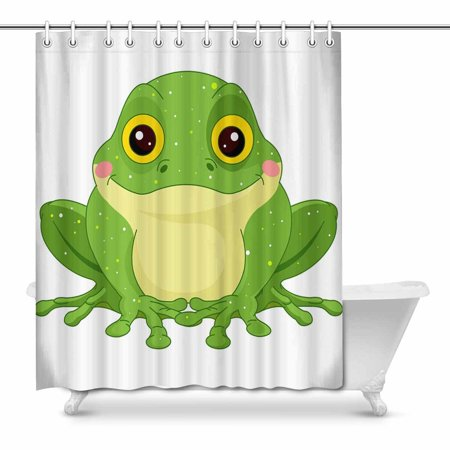 POP Cute Green Toad Bathroom Shower Curtain Decor Set 66x72 inch - image 1 of 1