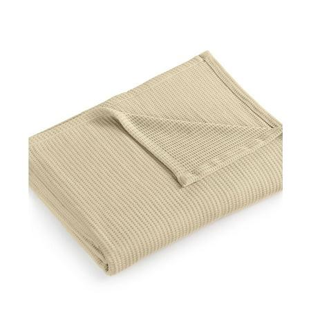 Lauren Ralph Lauren Luxury Ringspun 100% Cotton Full/Queen Blanket Tan