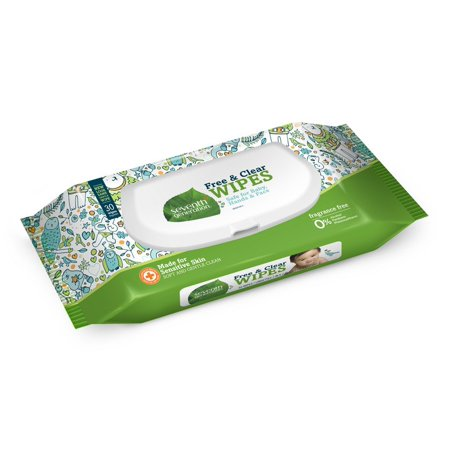 Seventh Generation Free & Clear Baby Wipes Travel Pack with Flip-Top Dispenser, 30 count