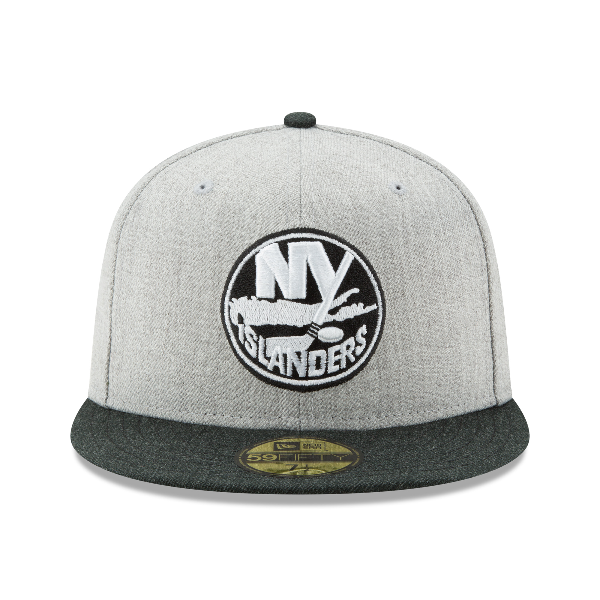 3cf60b32155 New York Islanders New Era Action 59FIFTY Fitted Hat - Heathered Gray Black  - Walmart.com