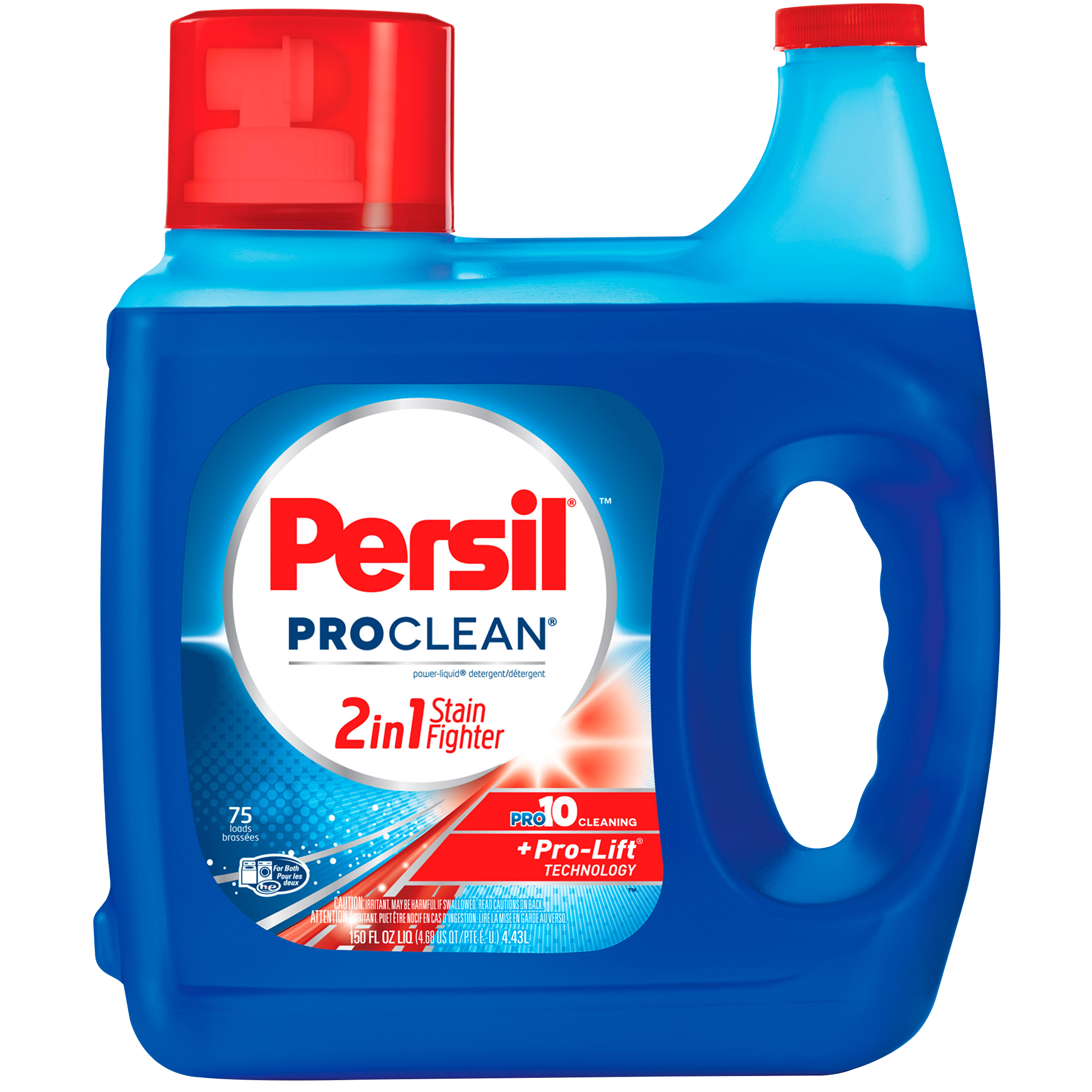Persil ProClean 2in1 StainFighter Liquid Laundry Detergent, 150 Fluid Ounces, 75 Loads