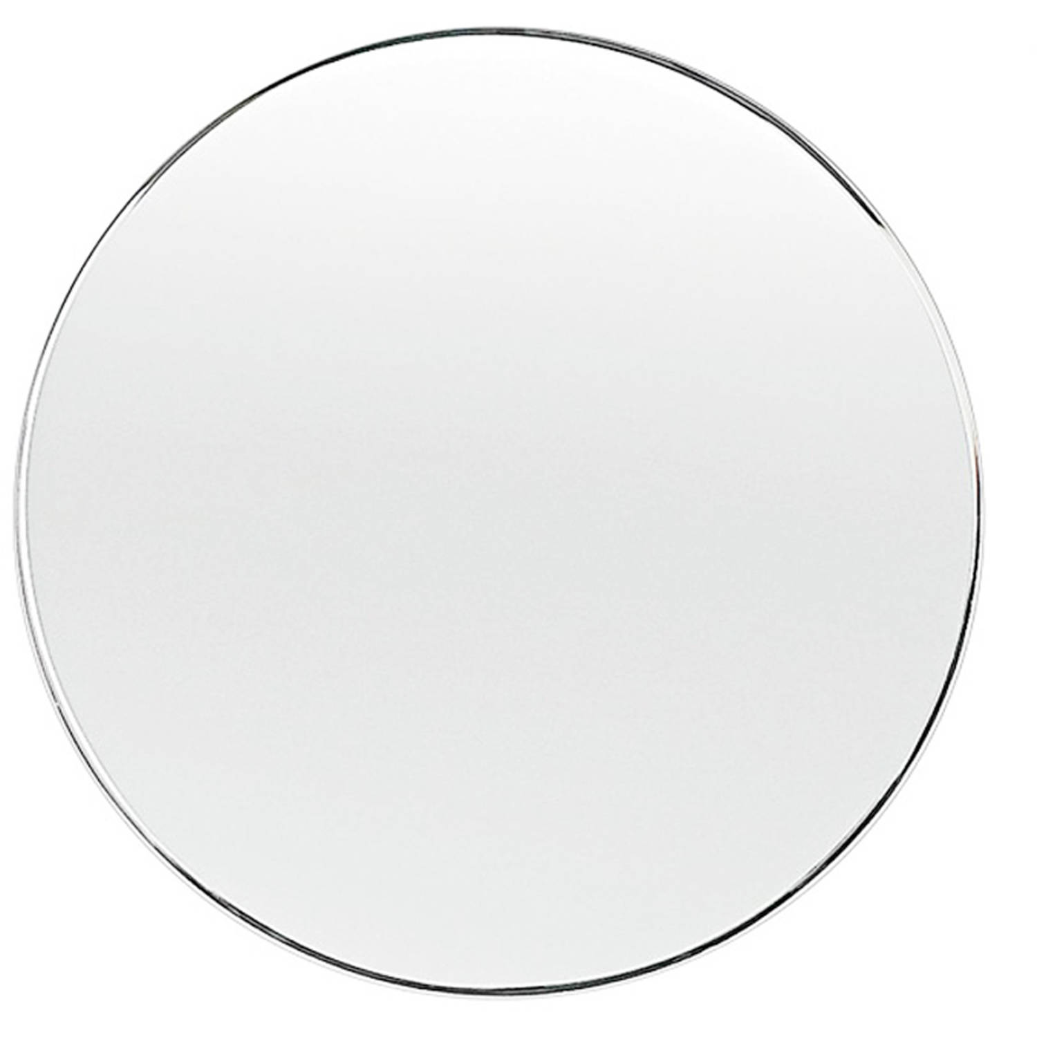 "18"" Round Beveled Polished Frameless Wall Mirror with Hooks by Fab Glass and Mirror"