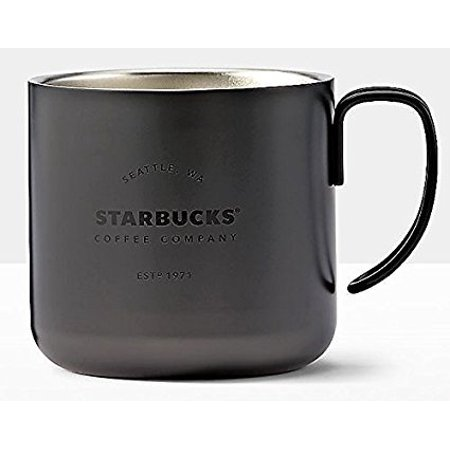 Starbucks 2017 Black Christmas Espresso Stainless Steel 3 Oz Demi Mug ()