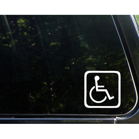 "Handicap Logo - 4"" x 4"" - Vinyl Die Cut Decal/ Bumper Sticker For Windows, Cars, Trucks, Laptops, Etc.,Sign Depot,SD1-8253"