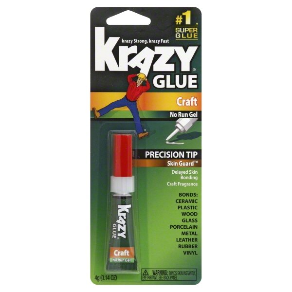 Krazy Glue Advanced Formula Craft Gel, 0.14 Oz.