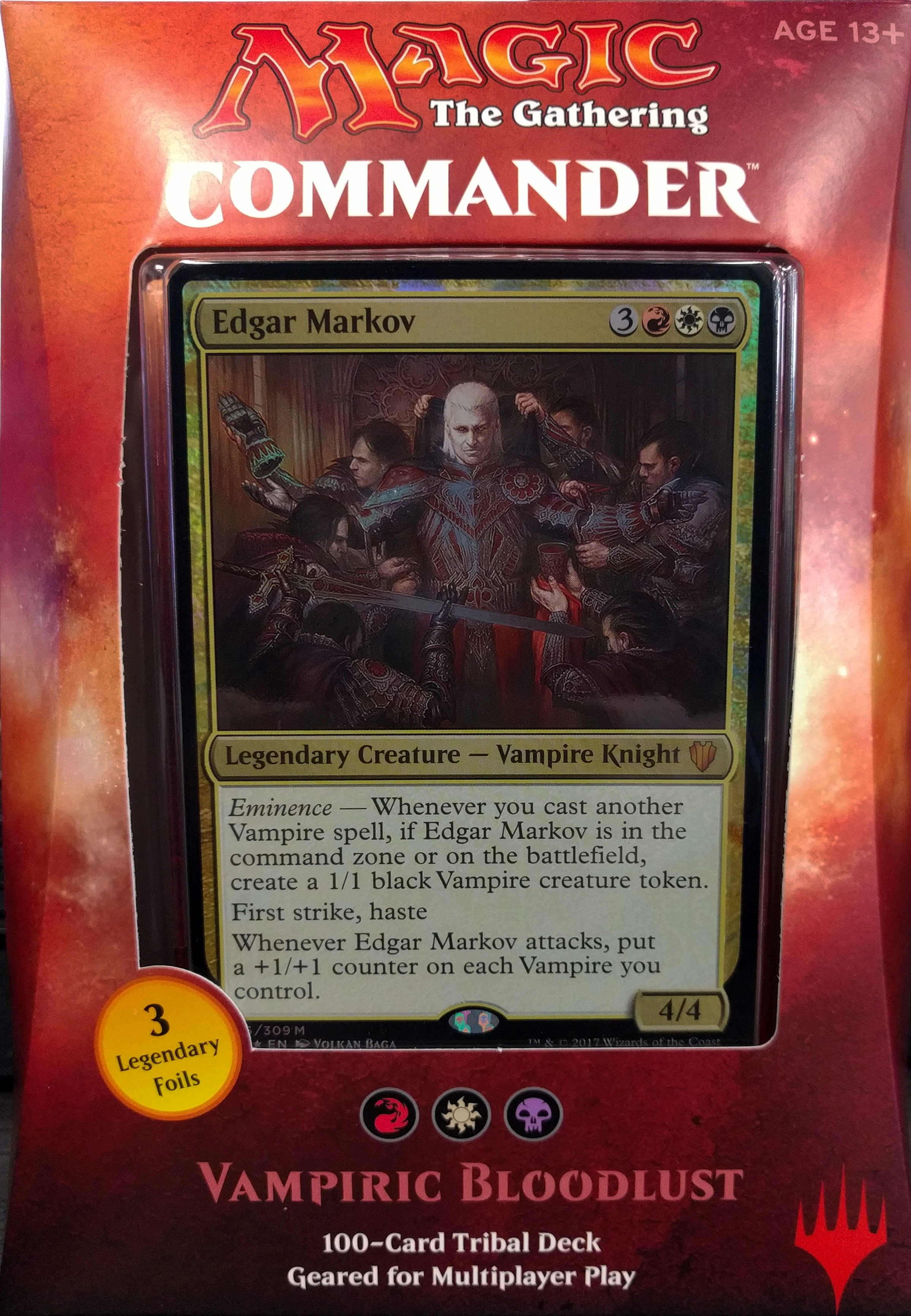 Magic: The Gathering 2017 Commander Deck - Vampiric Bloodlust - Walmart.com