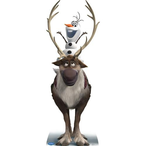 Disney Frozen Sven and Olaf Cardboard Standup - Party Supplies