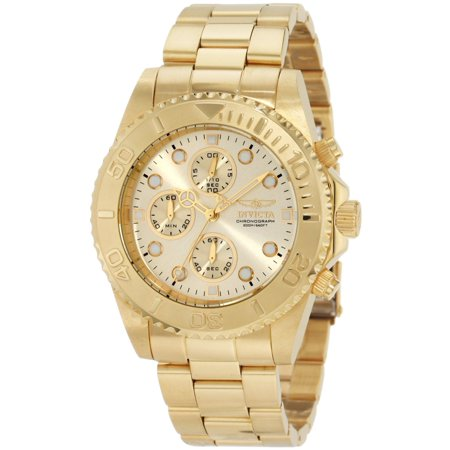 1774 Men's Pro Diver Gold Tone Stainless Steel Chronograph Dive