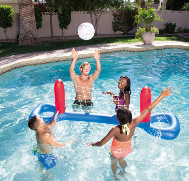 Intex Adult Swimming Pool Fun Floating Inflatable Pool Volleyball Game Water Set