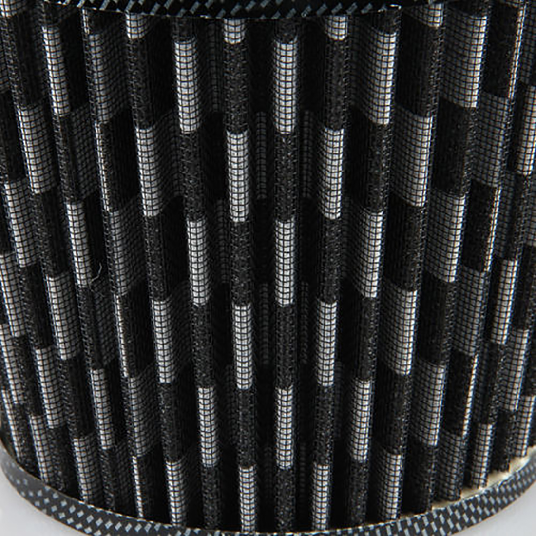 "Unique Bargains Vehicle Car Black White 76mm 3"" Inlet Dia Air Intake Round Filter - image 1 of 7"