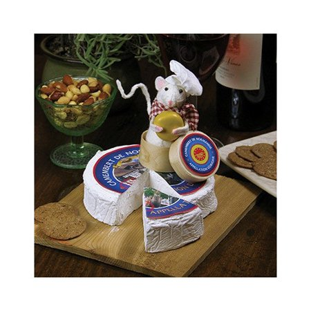 byers choice mouse on cheese tray
