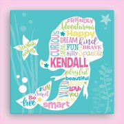 """Personalized Sweet Mermaid 12x12 or 16"""" x 16"""" Canvas"""