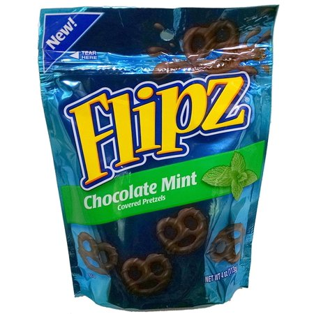 - 6 pack : Flipz Chocolate Mint Covered Pretzels 4oz Bag