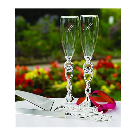 Love Knot Wedding Champagne Flutes (Knot Flutes)