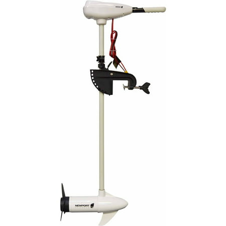 Newport Vessels L-Series 86lb Thrust Transom Mounted Saltwater Electric Trolling Motor w/LED Battery Indicator (40
