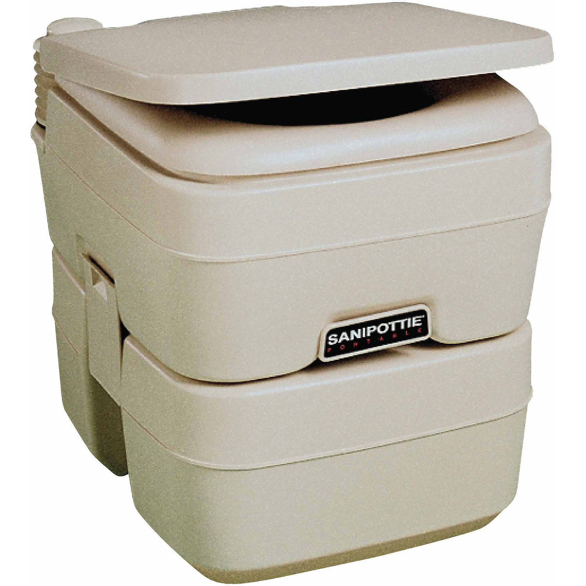 "SeaLand 5.0 Gallon SaniPottie 965MSD Portable Toilet with Mounting Brackets and 1-1/2"" MSD Fittings"