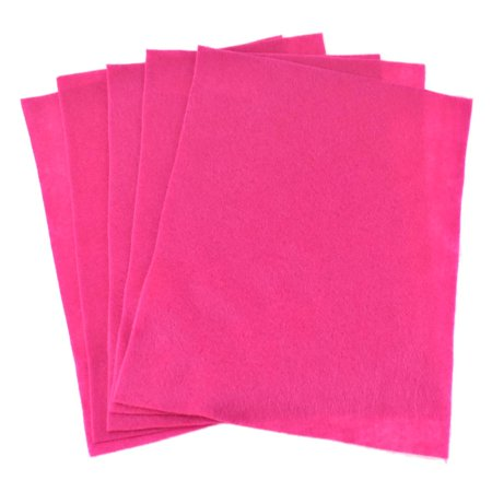 - Premium Craft Felt Sheets, 8-1/2-Inch x 11-Inch, 5-Count, Hot Pink