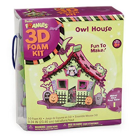 Foamies 3D Foam Kit Halloween Haunted House with Owl - Craft Kit for Kids