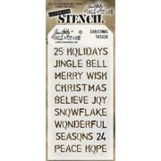 """Stampers Anonymous Tim Holtz Layered Stencil 4.125""""X8.5""""-Christmas"""