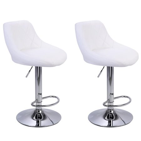 Incredible Zimtown Modern Rhombus Backrest Design Adjustable Bar Stools Set Of 2 Machost Co Dining Chair Design Ideas Machostcouk
