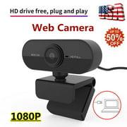USB HD Camera Webcam PC 1080P Web Cam w/ Microphone For Desktop Laptop Computer