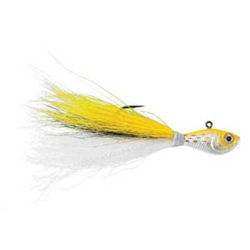 Click here to buy WAHOO FISHING PRODUCTS Wahoo Baitfish Bucktail Jig 3 8oz Chartreuse Shad WAH-SLV38CSH.