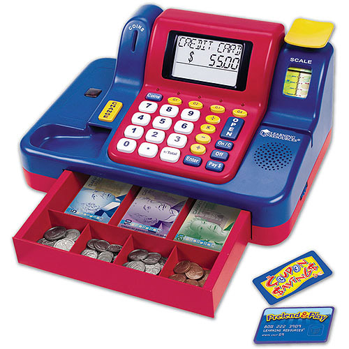 Learning Resources Pretend and Play Teaching Cash Register with Canadian Currency