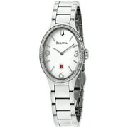 Women's Diamond Gallery 96R192 Silver Stainless-Steel Plated Japanese Quartz Dress Watch