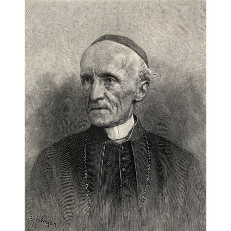 - Henry Edward Manning 1808 - 1892 English Roman Catholic Archbishop And Cardinal From The Book The Century Illustrated Monthly Magazine May To October 1883 Canvas Art - Ken Welsh  Design Pics (13 x 16)