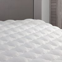 RV Mattress Pad - Extra Plush Topper with Fitted Skirt - Mattress Cover for RV, Camper, RV Bunk